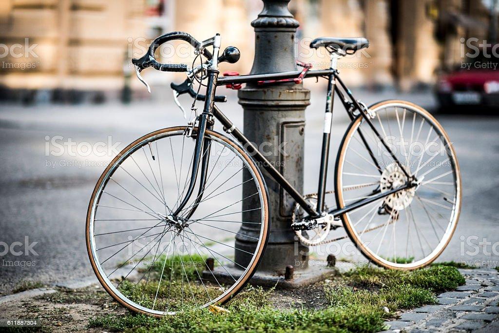 Black Bicycle stock photo