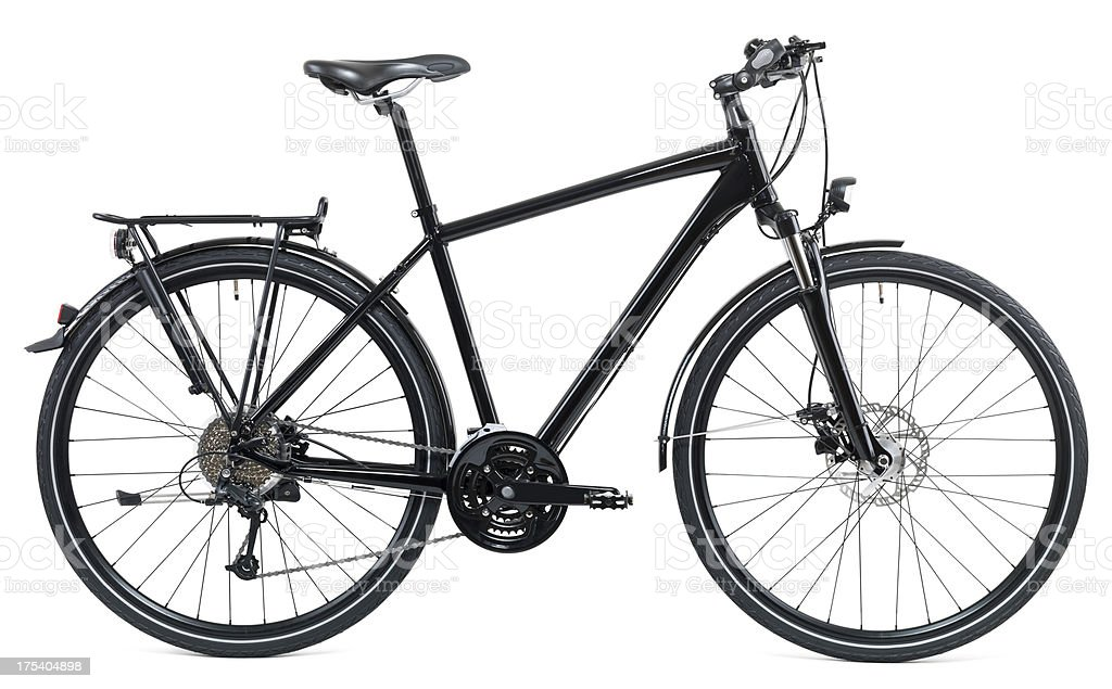 Black Bike stock photo