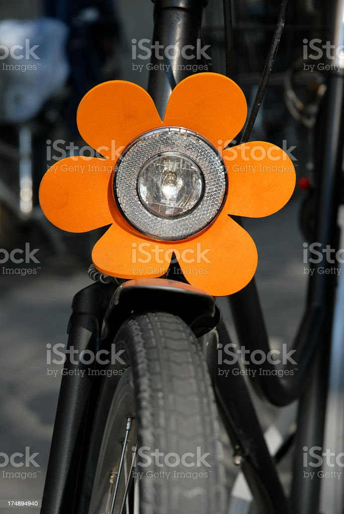 Black bike with love for the detail stock photo