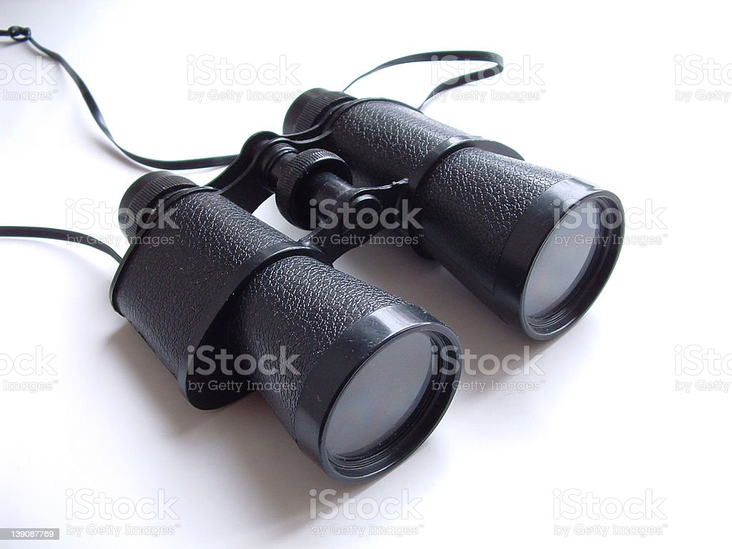 Black Binoculars royalty-free stock photo