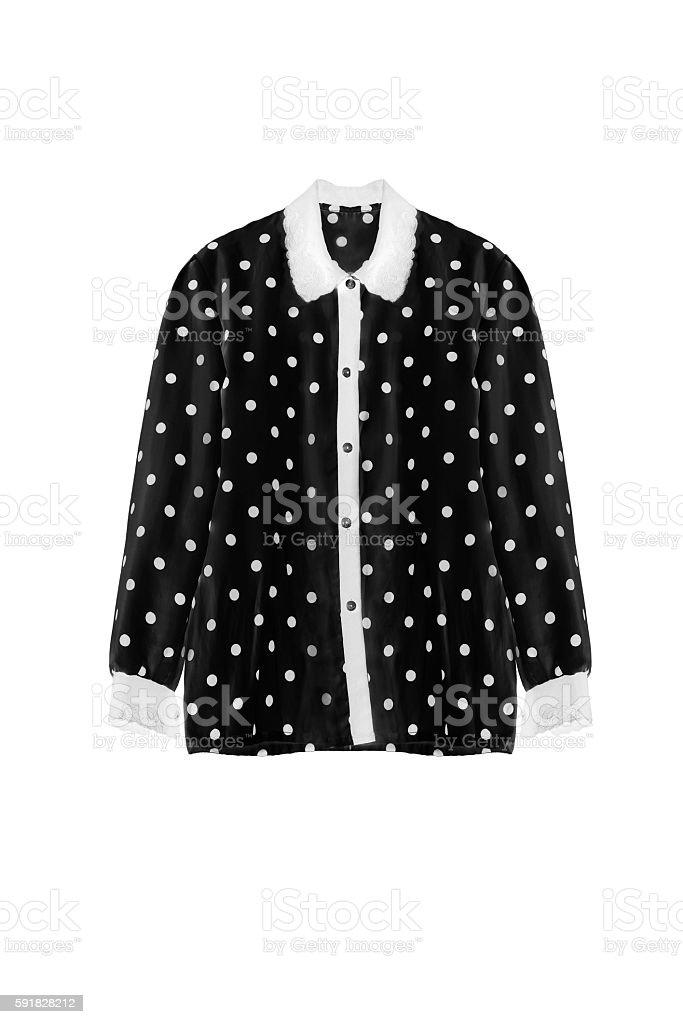 Black blouse isolated stock photo