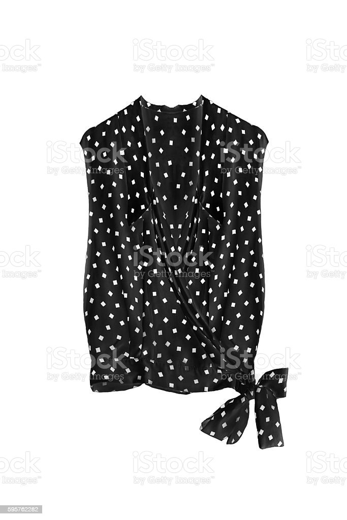 Black blouse isolated stock photo