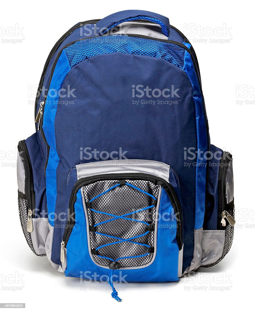 Black & Blue Backpack stock photo