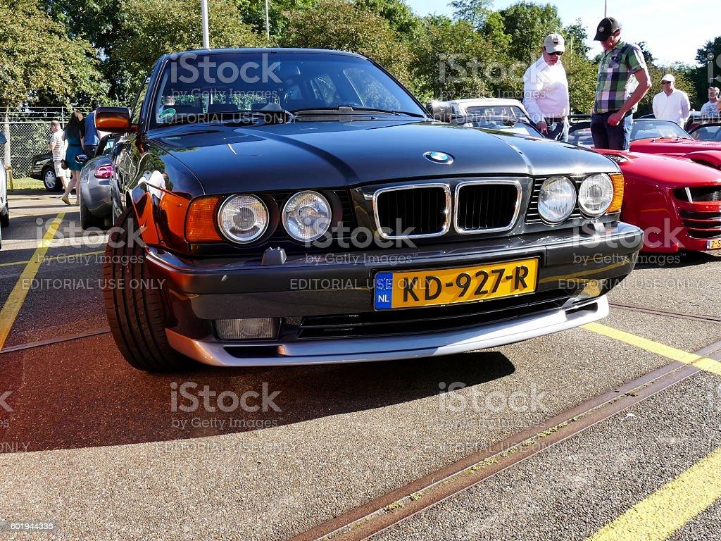 Amsterdam, The Netherlands - September 10, 2016: Black BMW M5 stock photo