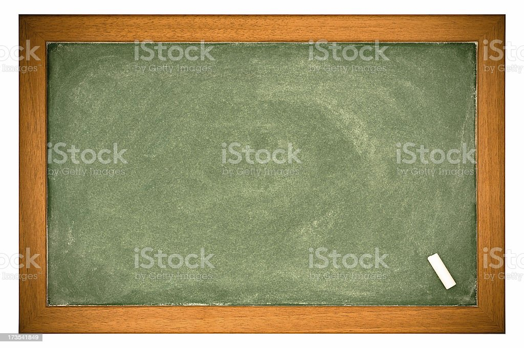 Black Board with Chalk royalty-free stock photo
