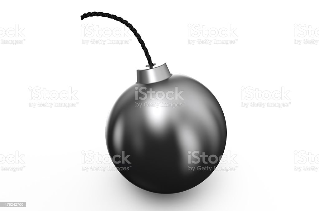 black bomb stock photo