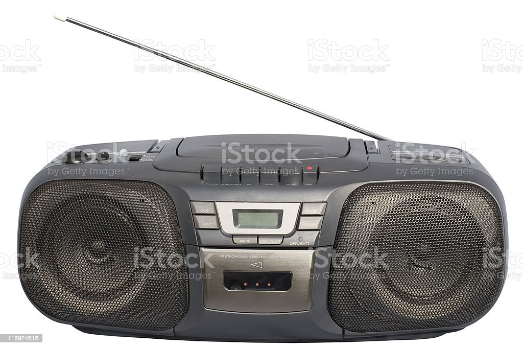 Black Boom Box stock photo