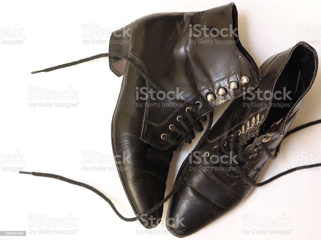 black boots royalty-free stock photo