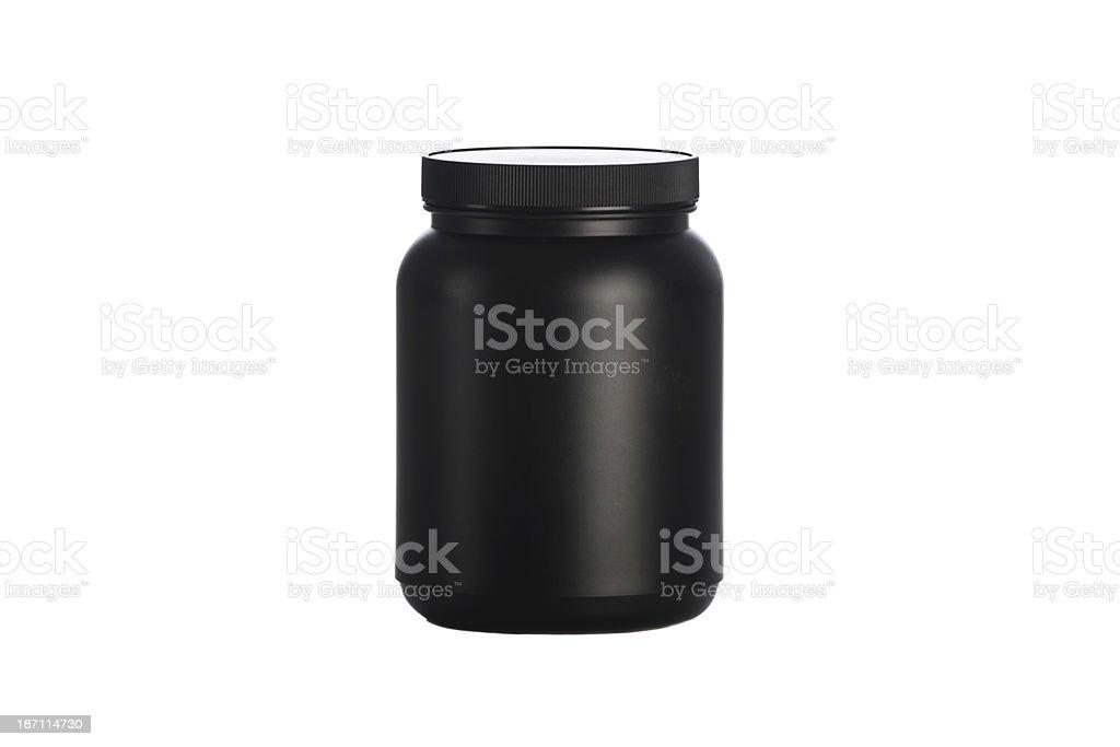 Black bottle stock photo
