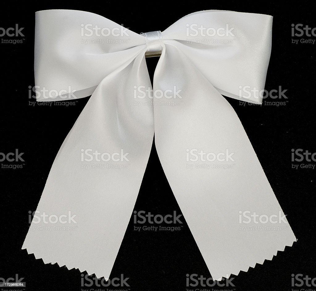 Black bow tie (clipping path) stock photo