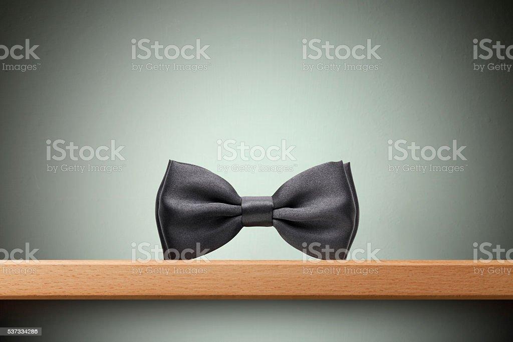 Black bow tie stock photo