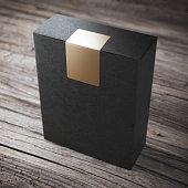 Black box with sticker