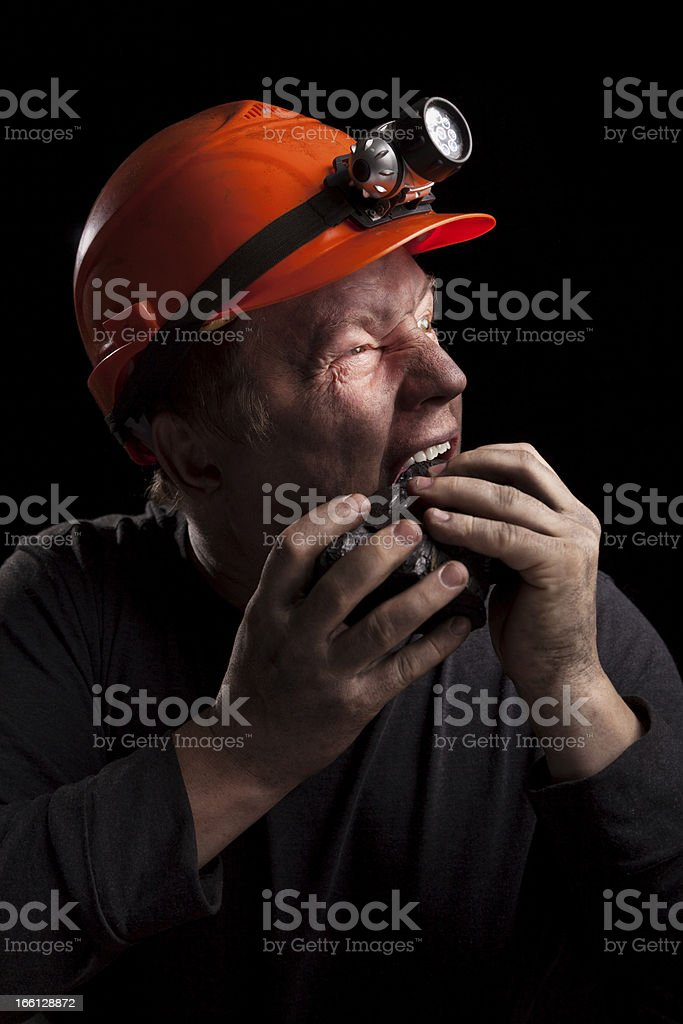 Black bread of the miner royalty-free stock photo