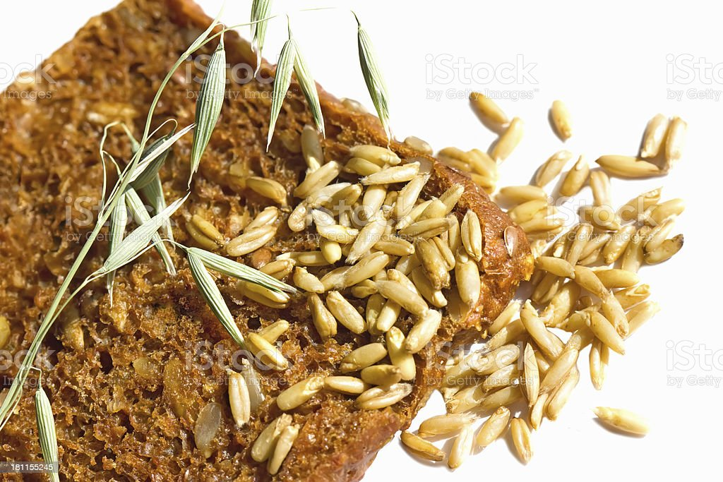 Black bread with sunflower seeds, oats and wheat royalty-free stock photo