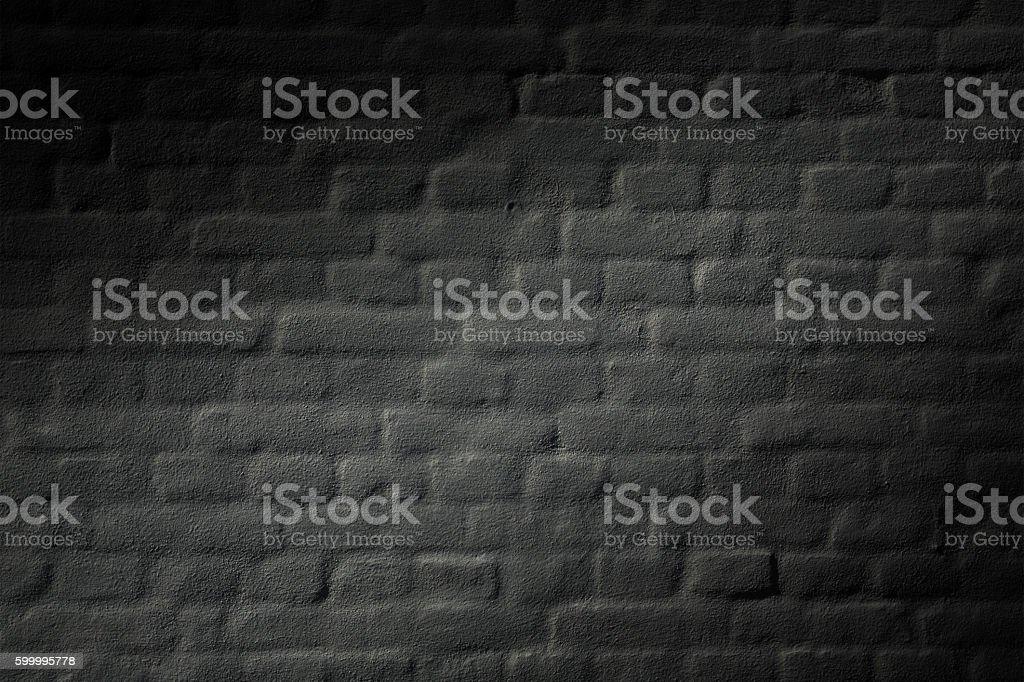 black brick wall background texture stock photo