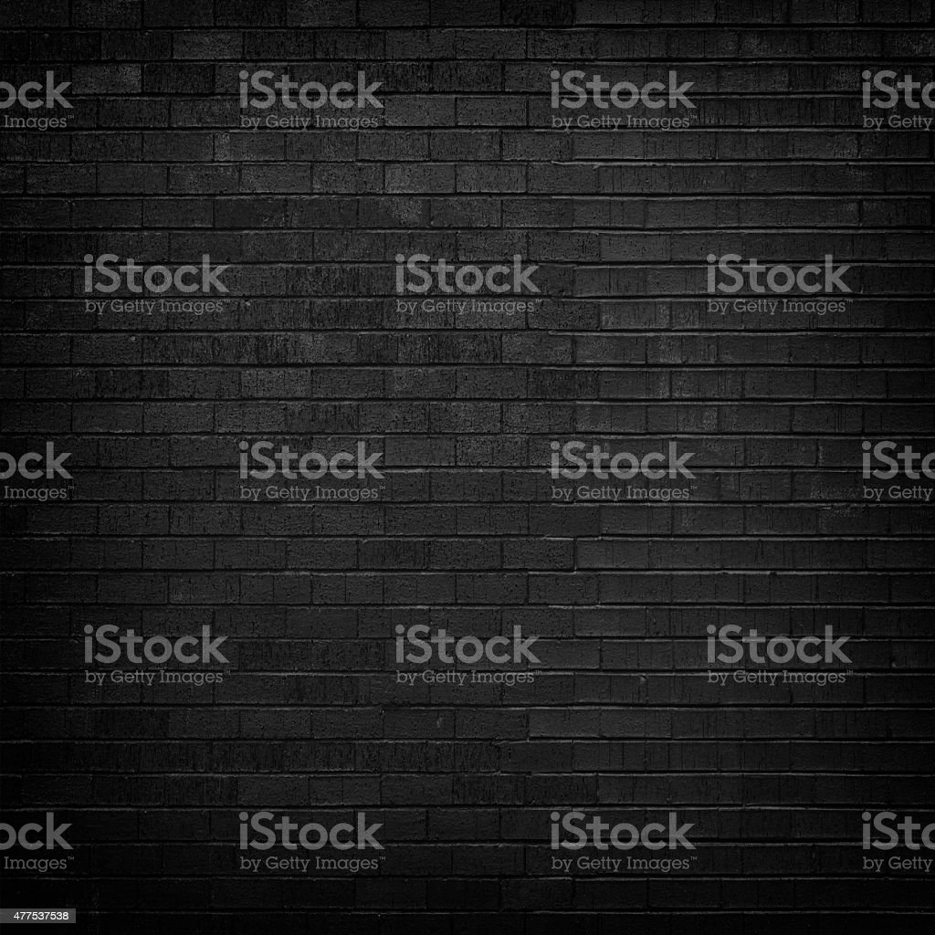 Black brick wall for background stock photo