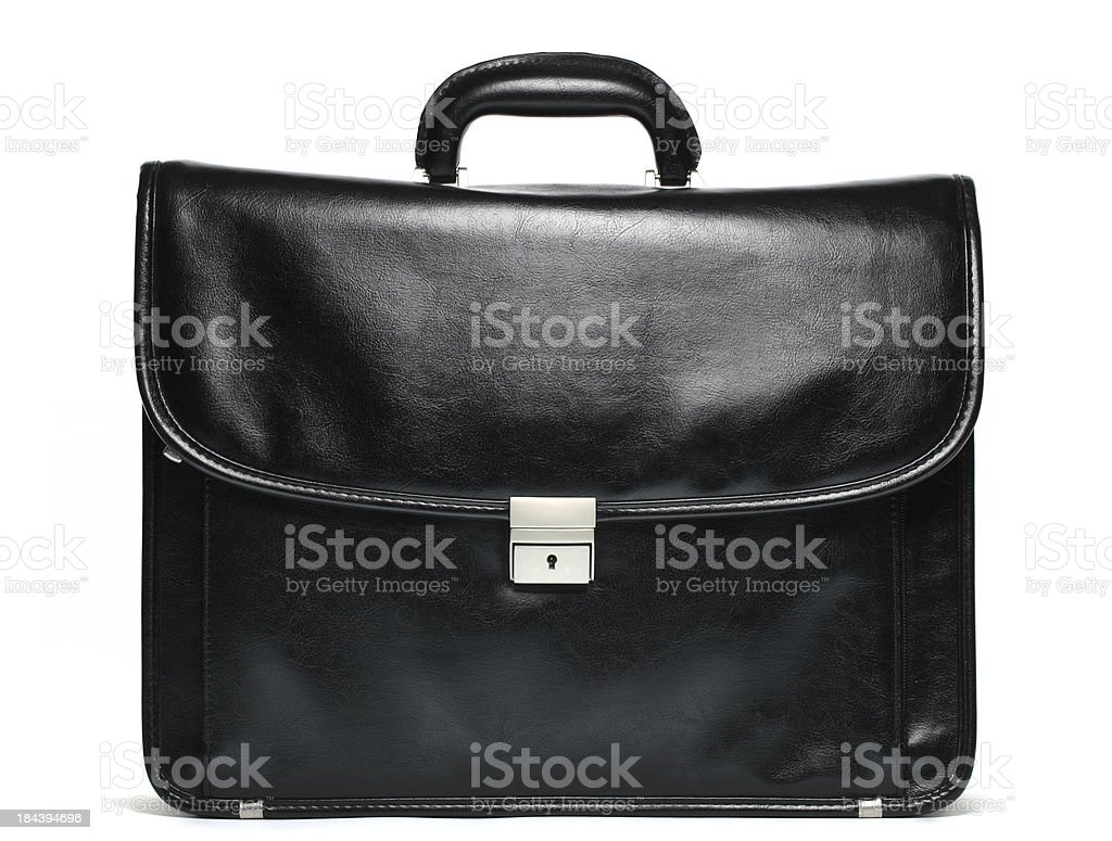 black briefcase stock photo