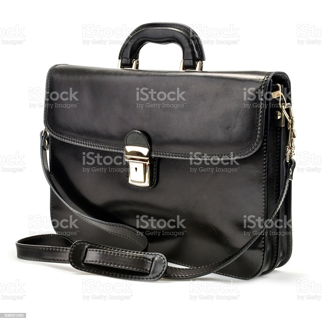 Black Briefcases with Professional Style with white background stock photo