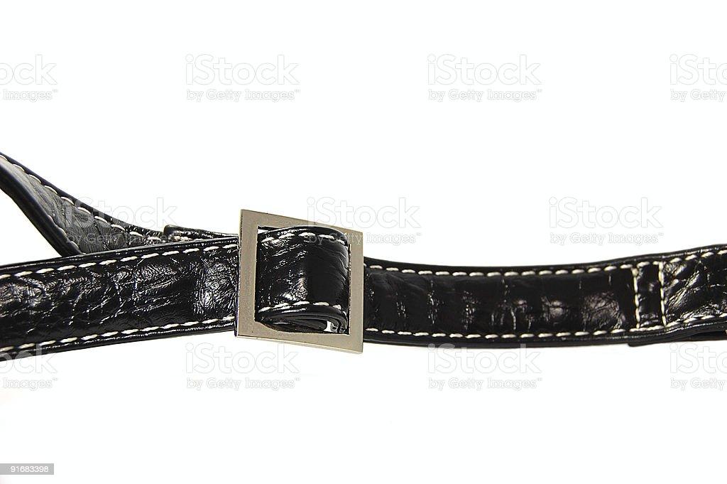 Black buckle royalty-free stock photo