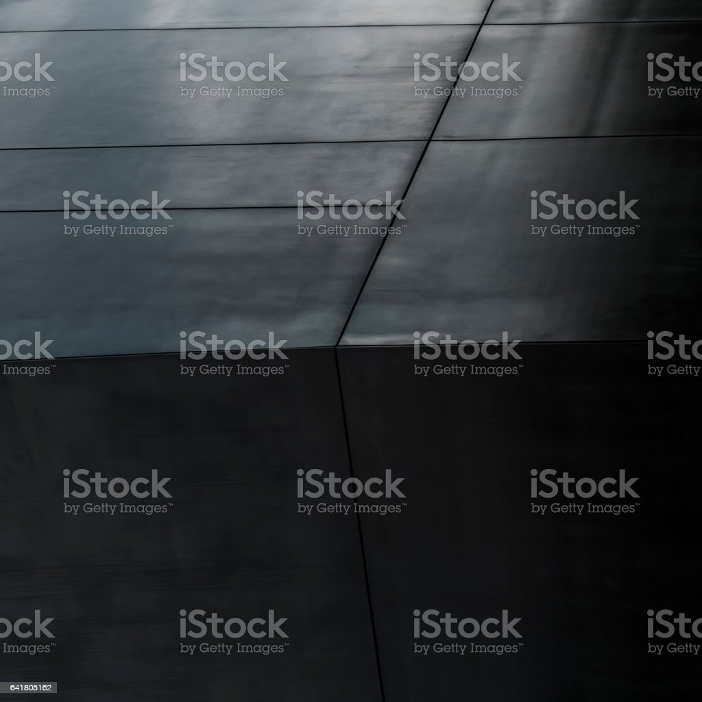 Black Building Wall Architectural Background stock photo