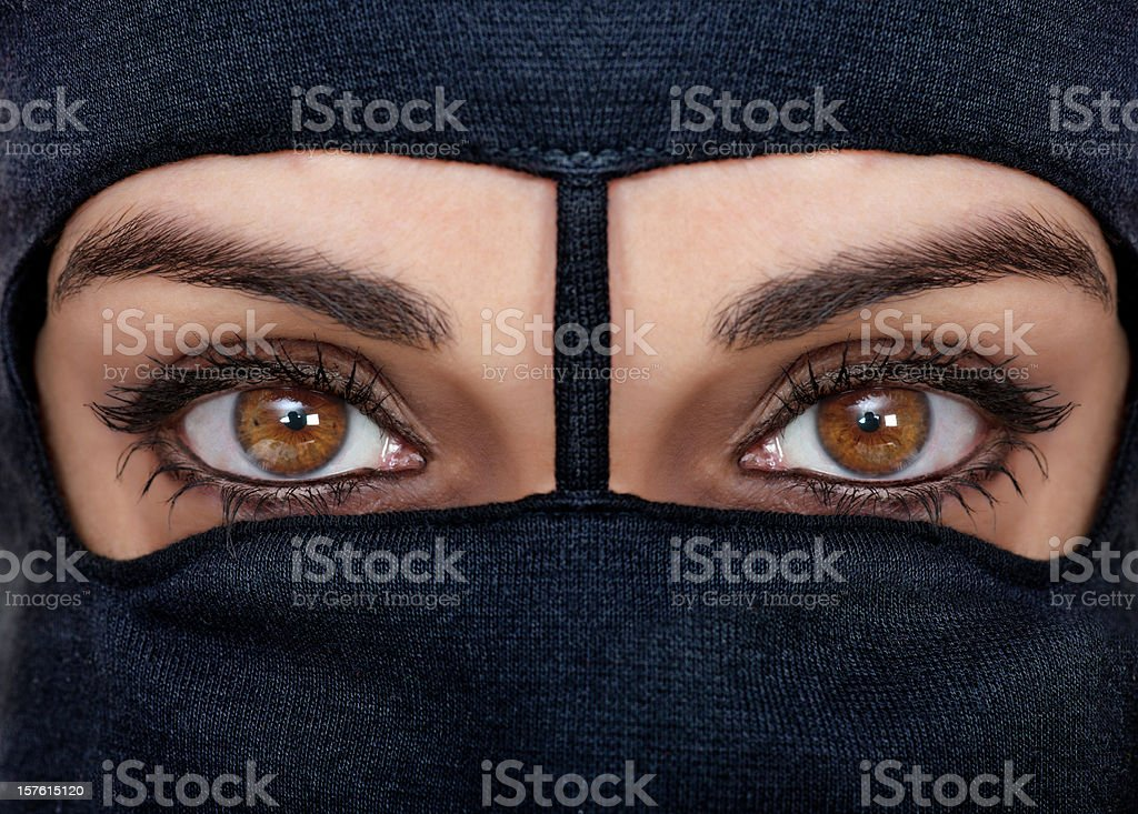 black burqa royalty-free stock photo