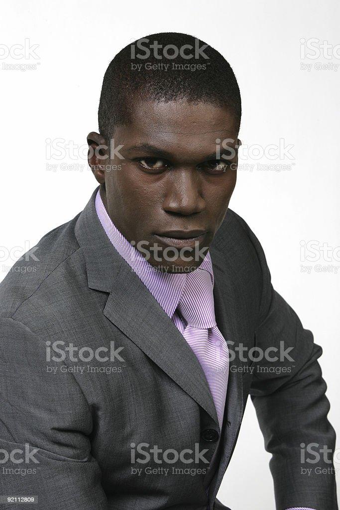 Black Business Man 03 royalty-free stock photo
