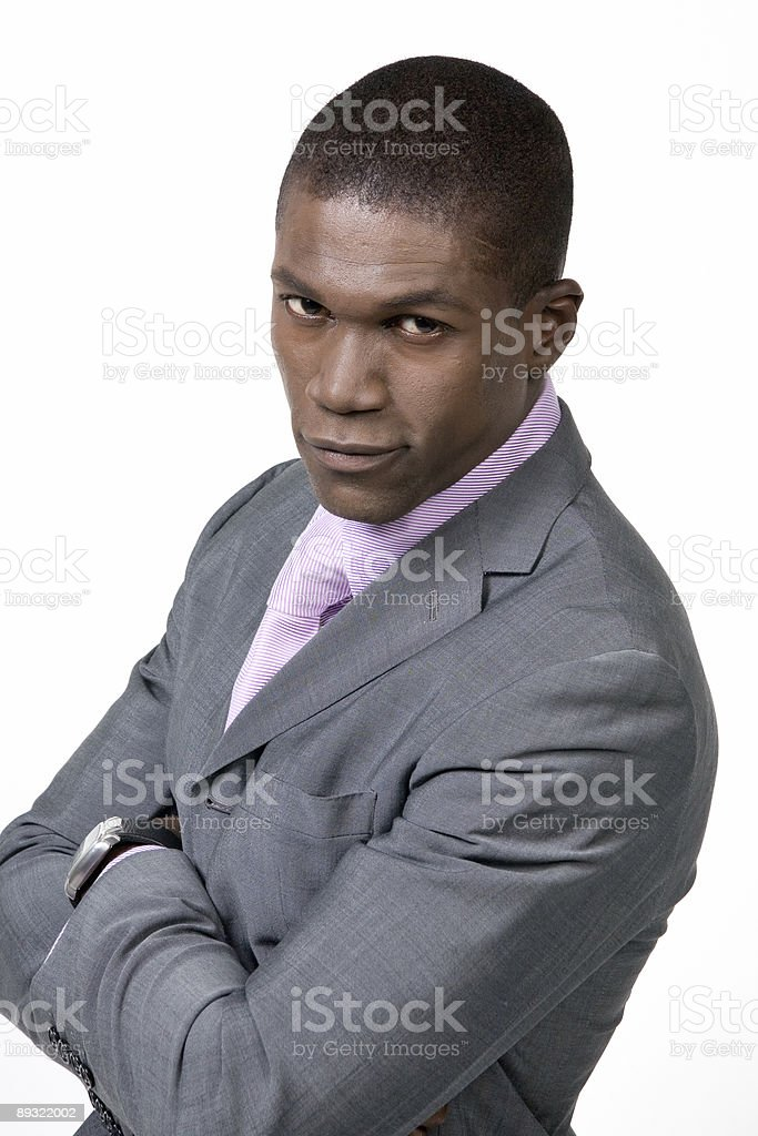 Black Business Man 12 royalty-free stock photo