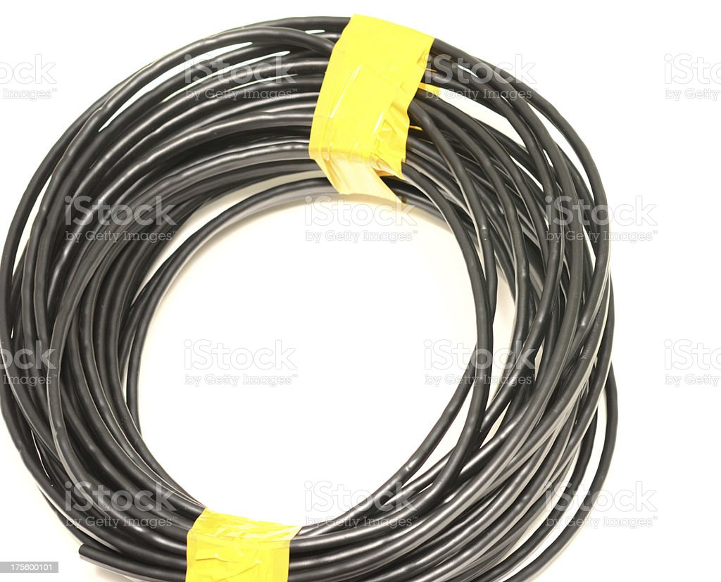 black cable stock photo