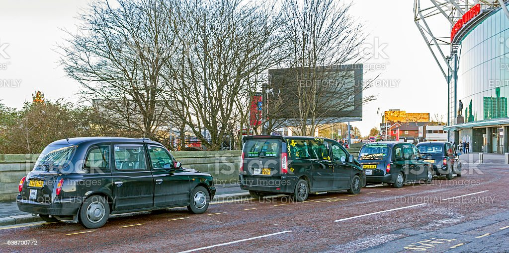 Black Cabs Manchester, stock photo