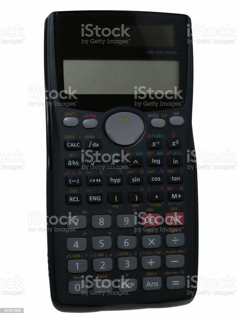 Black calculator isolated - science math stock photo