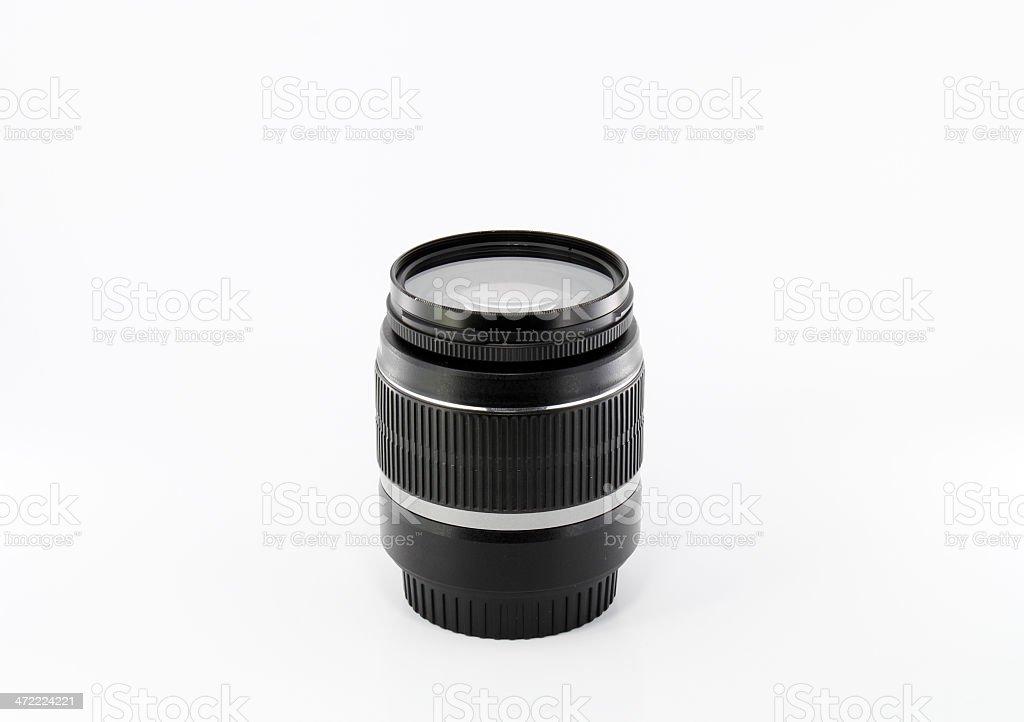 Black camera lens royalty-free stock photo