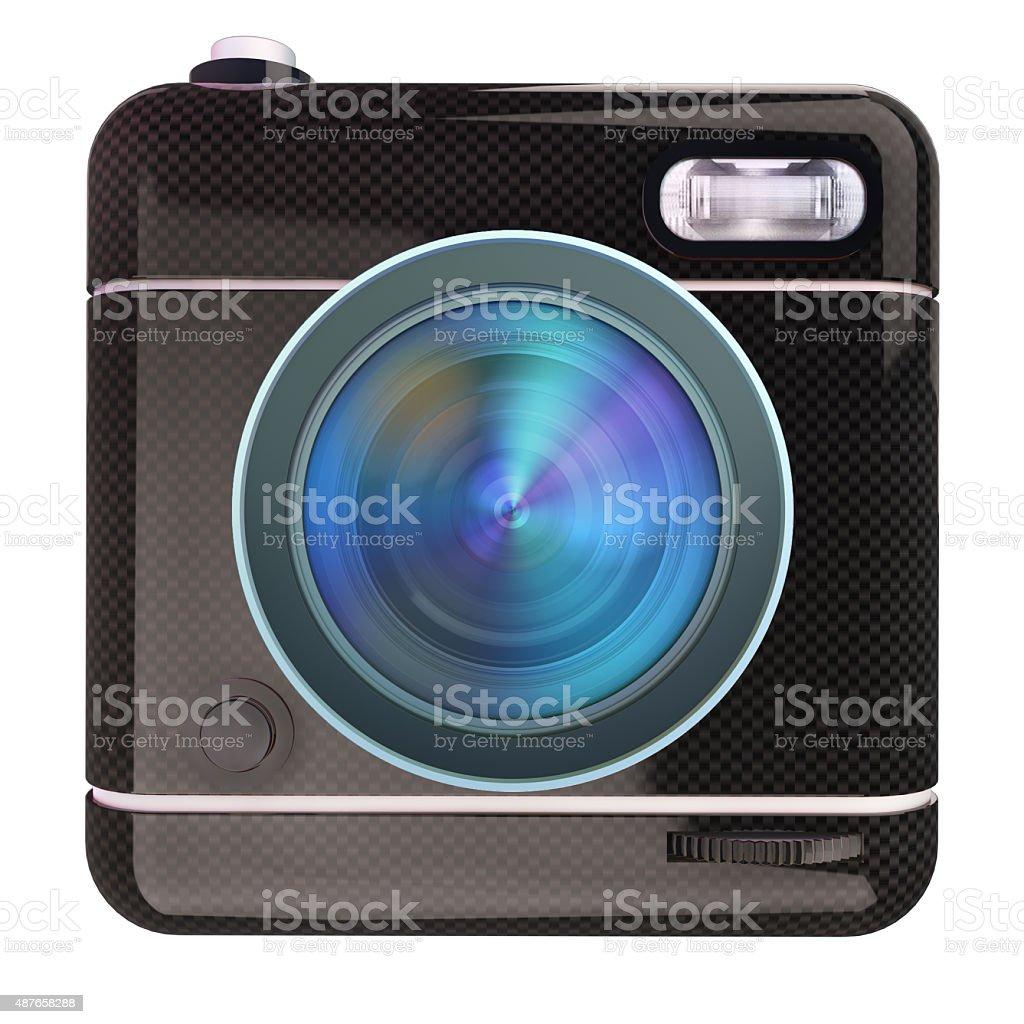 Black camera stock photo