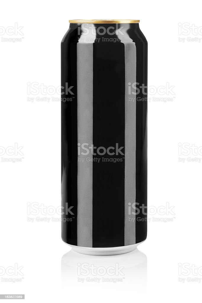 Black can stock photo
