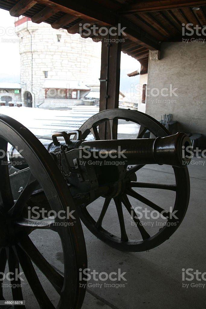 Black cannon stock photo
