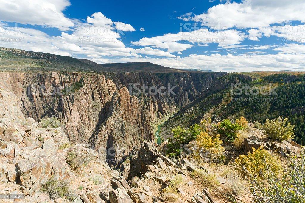 Black Canyon of the Gunnison Landscape stock photo