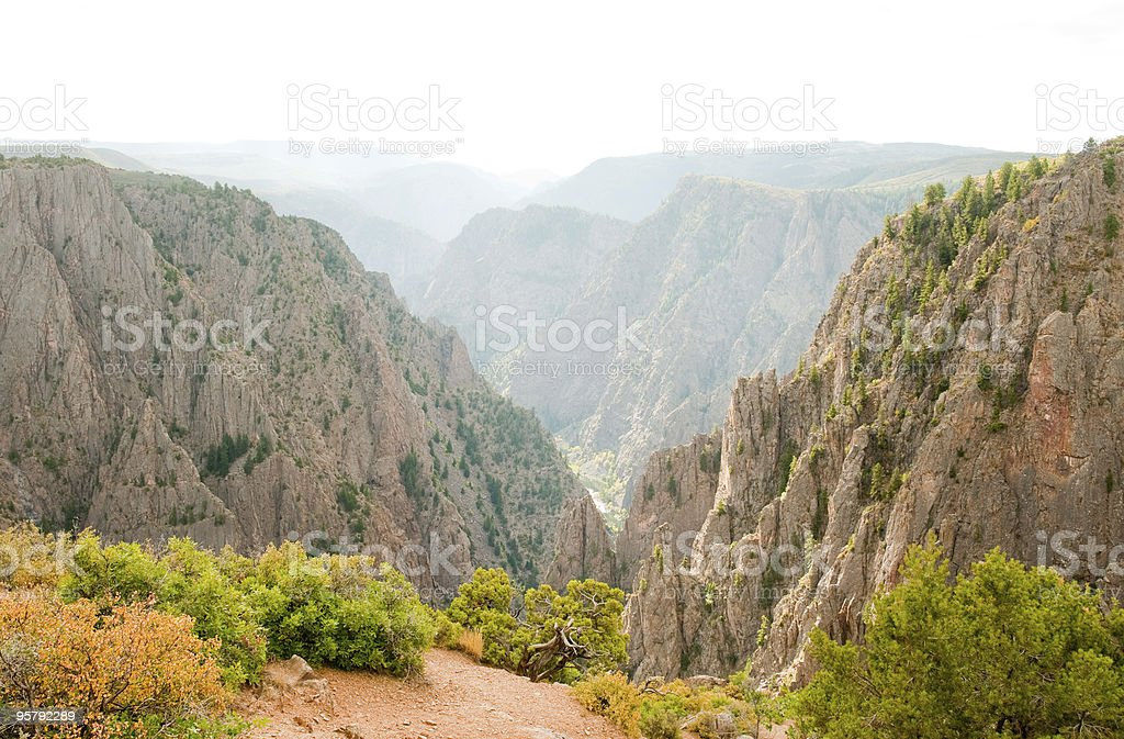 Black Canyon of the Gunnison National Park stock photo