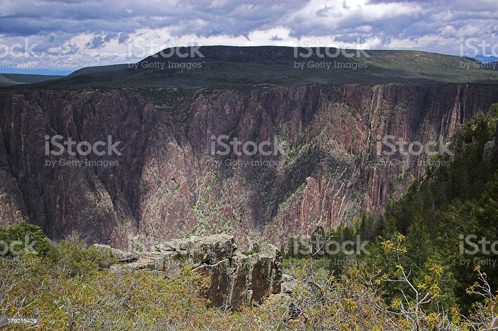 Black Canyon of the Gunnison royalty-free stock photo