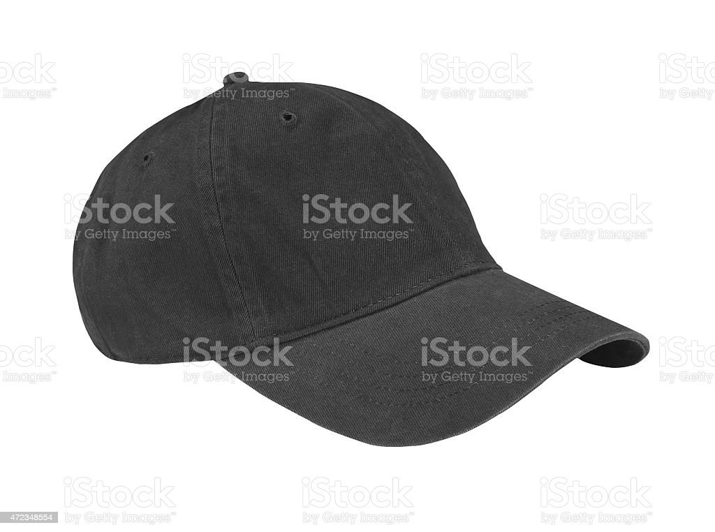 Black Cap Isolated on White Background stock photo