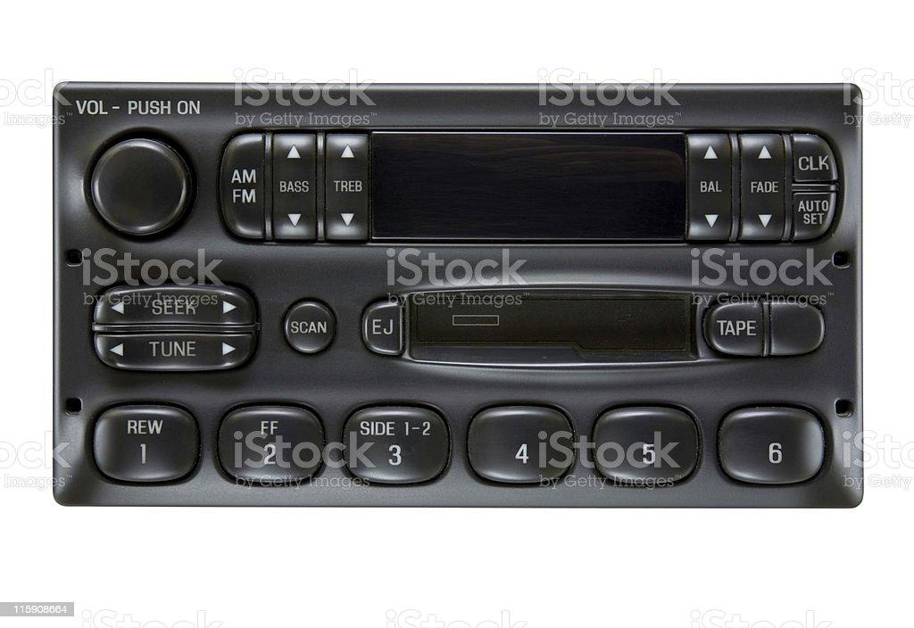Black car audio royalty-free stock photo
