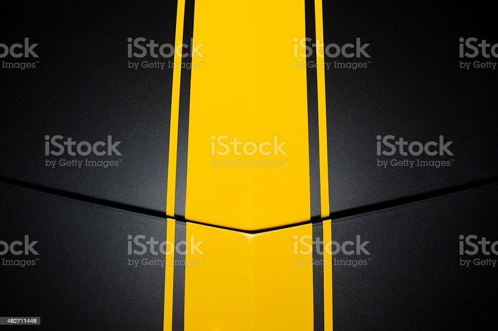 Black car bodywork stock photo
