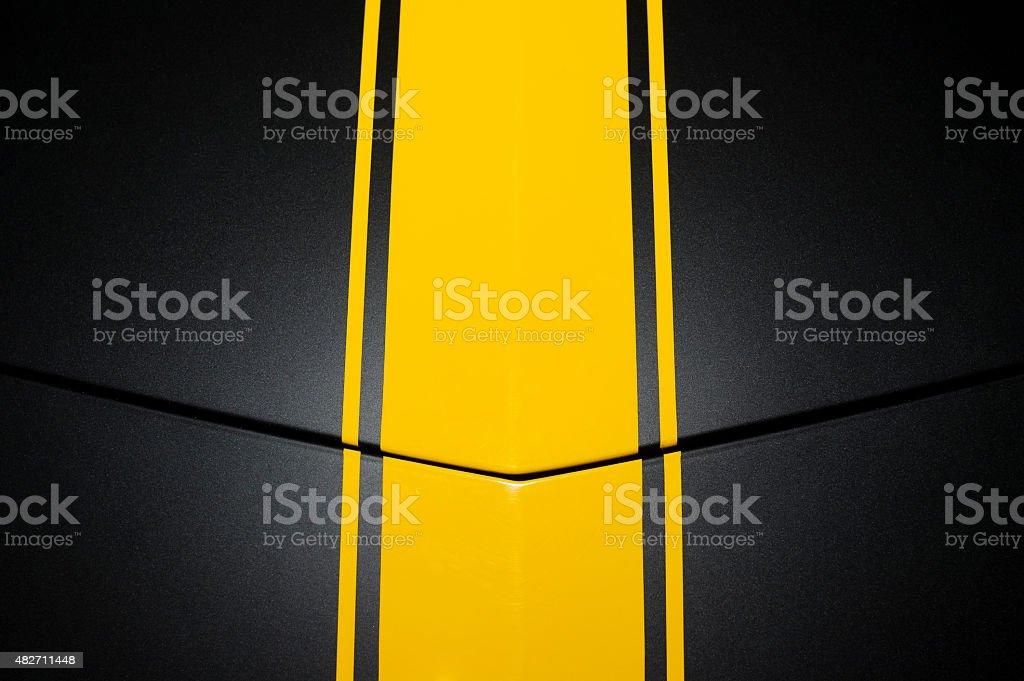 Black car bodywork stock photo
