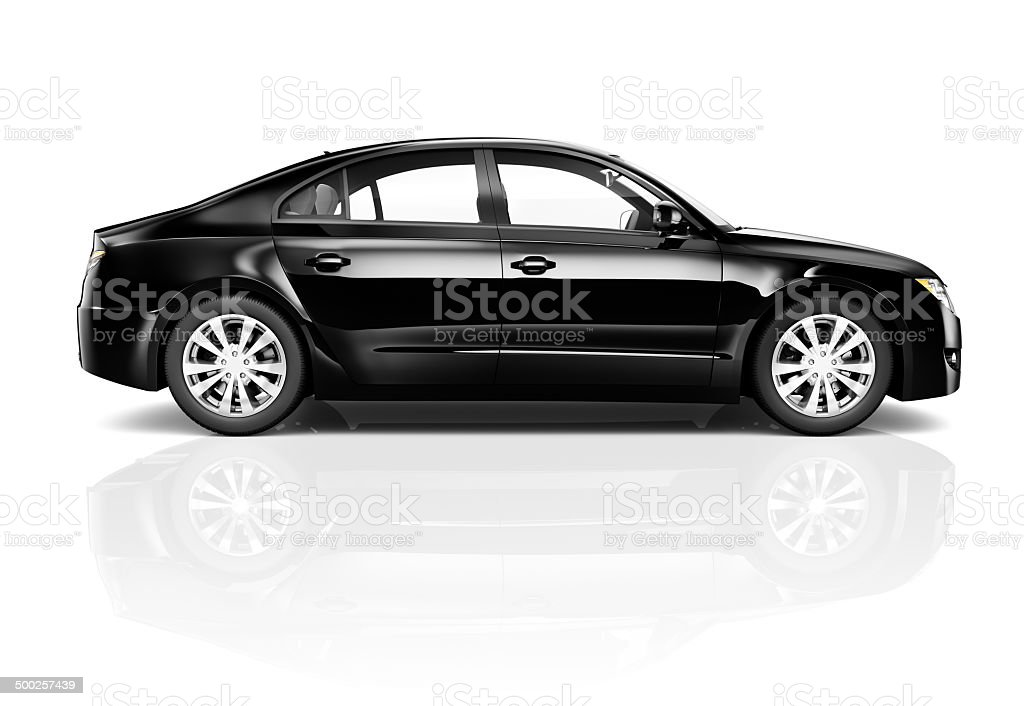 3D Black Car stock photo