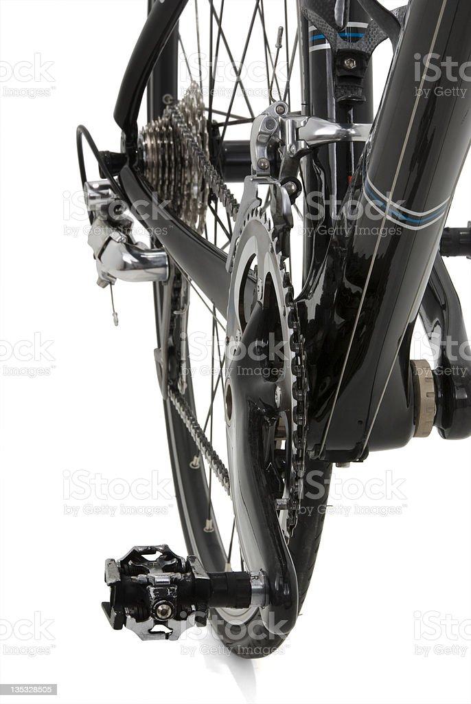 Black Carbon Bike Front Detail royalty-free stock photo