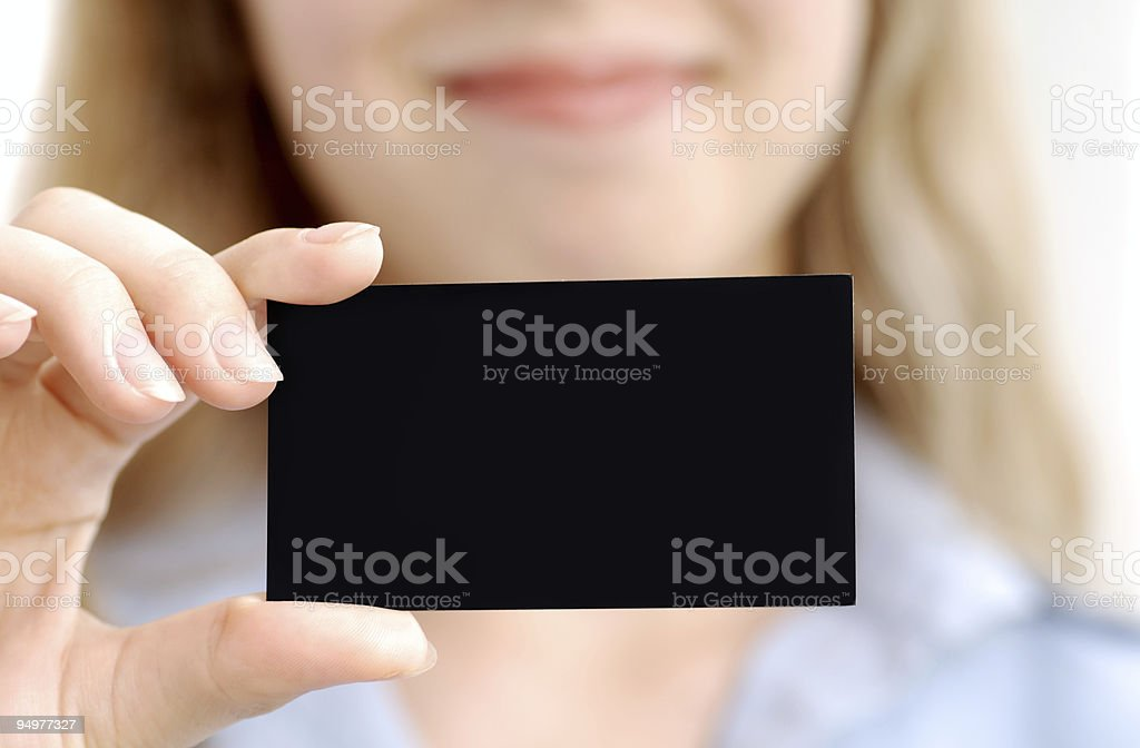 black card royalty-free stock photo