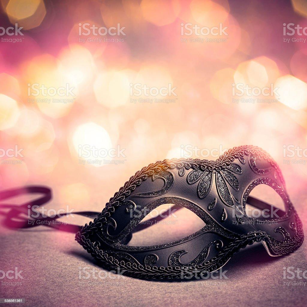 black carnival mask stock photo