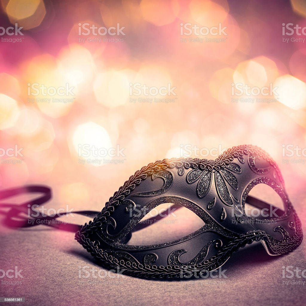 black carnival mask stock photo
