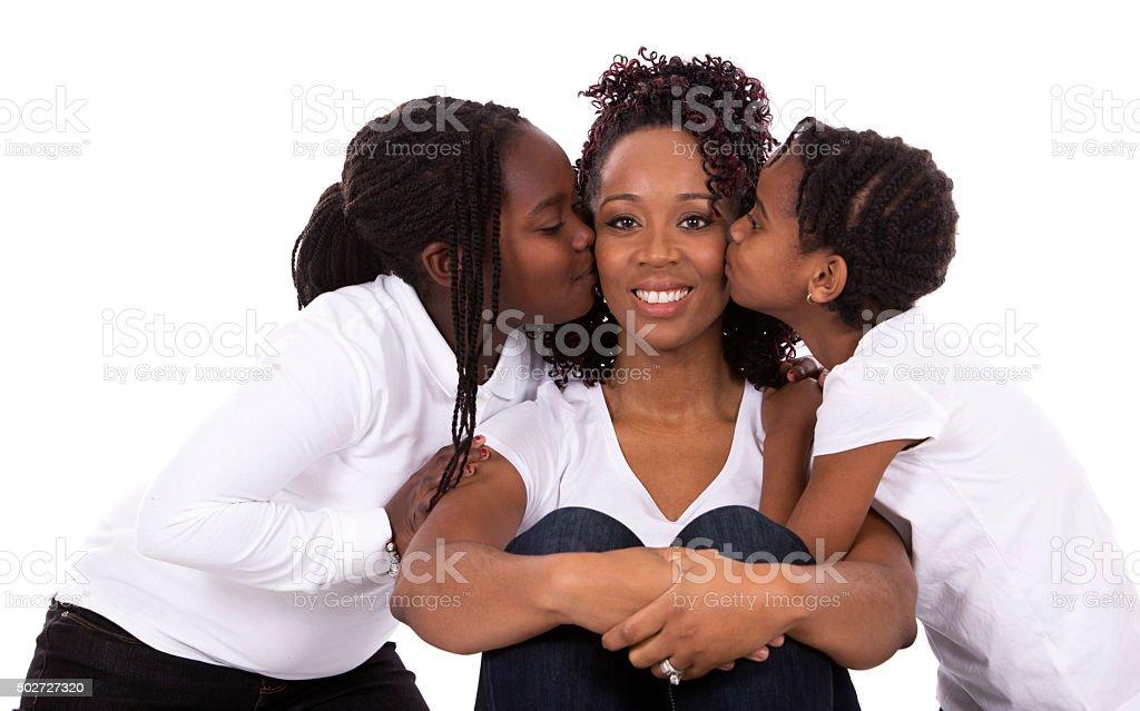 black casual family stock photo