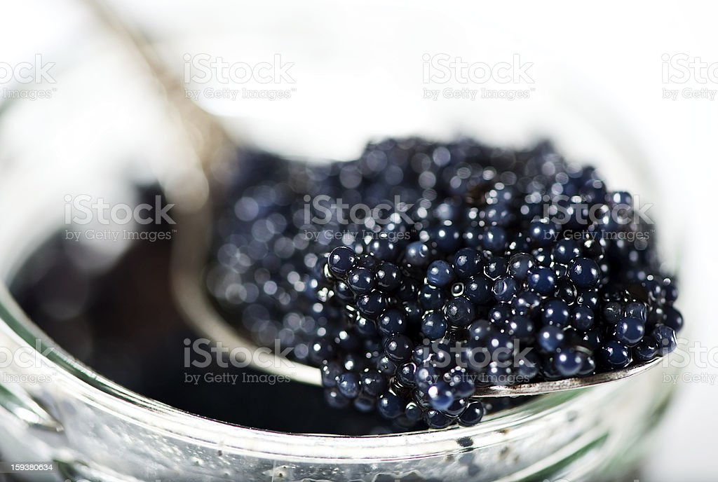 Black caviar stock photo