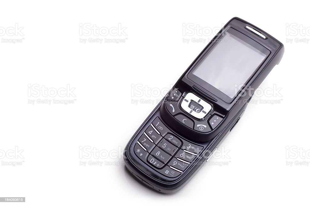 Black cell phone royalty-free stock photo