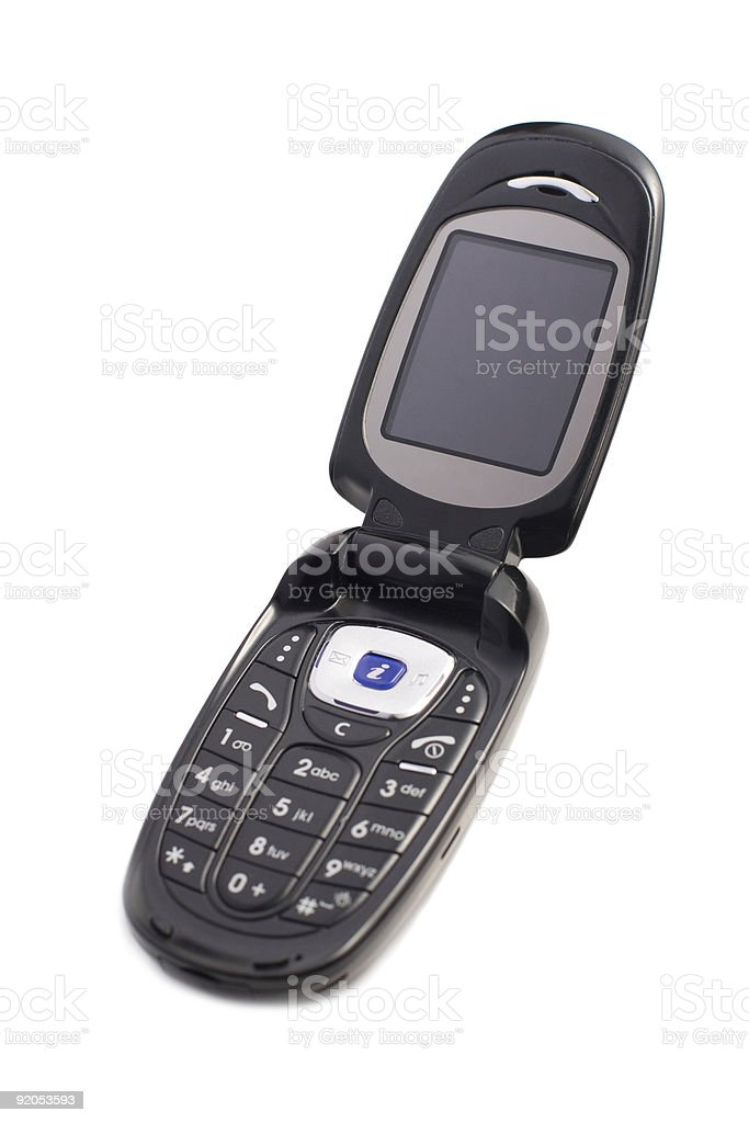 Black Cell Phone. stock photo